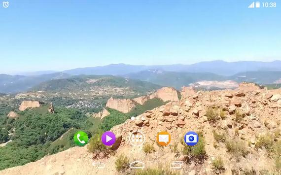 Dron Nature Mountains 3D LWP apk screenshot