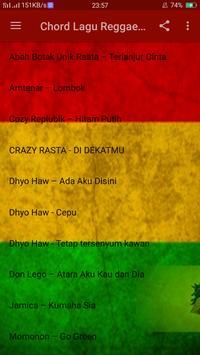 Chord Lagu Reggae Offline screenshot 1