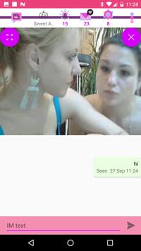Video chat lesbian dan kencan screenshot 13