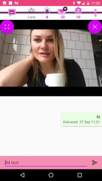 Video chat lesbian dan kencan screenshot 18
