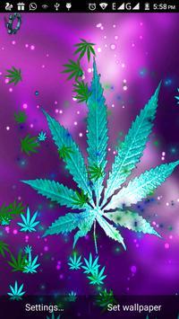 Marijuana Leaf Live wallpapers poster