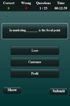 Marketing Finance Quiz screenshot 9