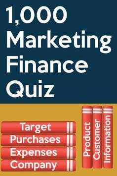 Marketing Finance Quiz poster