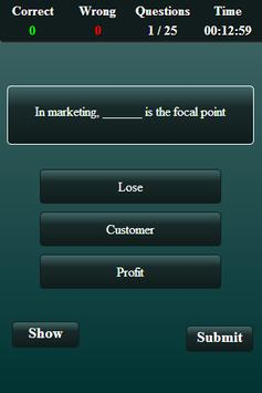 Marketing Finance Quiz screenshot 16