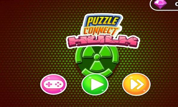 Match 4 Puzzle Connect Game - Green Man toy apk screenshot