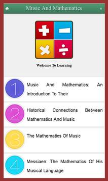 Learn Music And Mathematics poster