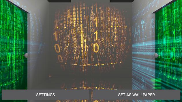3D Matrix Corridor LiveWP apk screenshot