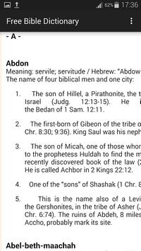 Bible Dictionary poster