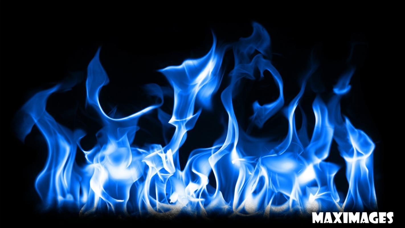 Blue Fire Wallpaper Plakat Apk Zrzut Ekranu