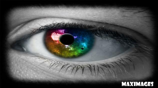 Colorful Eye Wallpaper poster