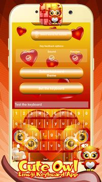 Cute Owl Emoji Keyboard App screenshot 1