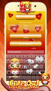 Cute Owl Emoji Keyboard App screenshot 2