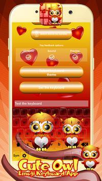 Cute Owl Emoji Keyboard App screenshot 5