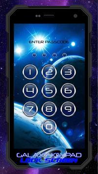 Galaxy Keypad Lock Screen poster