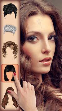 Girls Hair Salon Photo Montage poster