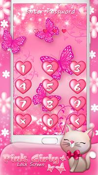 Pink Girly Lock Screen apk screenshot