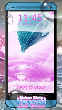Water Drop Keypad Lock Screen apk screenshot