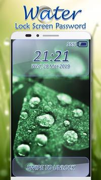 Water Lock Screen Password apk screenshot