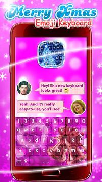 Merry Xmas Emoji Keyboard apk screenshot