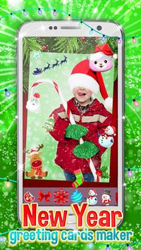 New Year Greeting Cards Maker poster