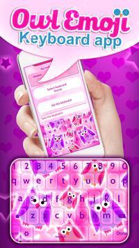 Owl Emoji Keyboard App poster