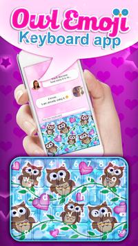 Owl Emoji Keyboard App apk screenshot