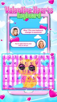 Valentine Hearts Keyboard poster
