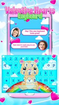 Valentine Hearts Keyboard screenshot 1
