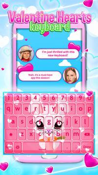 Valentine Hearts Keyboard screenshot 2