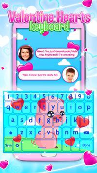 Valentine Hearts Keyboard apk screenshot