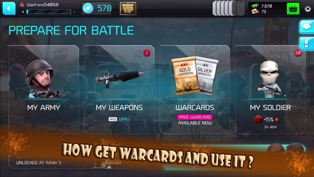Guide And Tips For WarFriends apk screenshot
