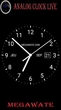 analog clock live apk screenshot