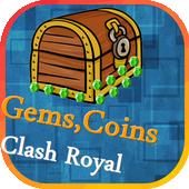 Gems,Coins Clash Royal prank icon
