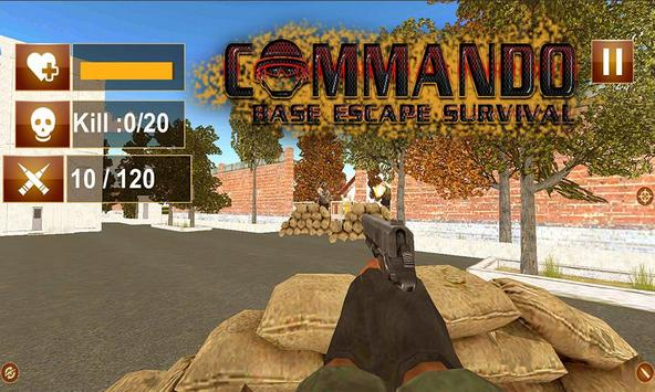 Commando Base Escape Survival poster