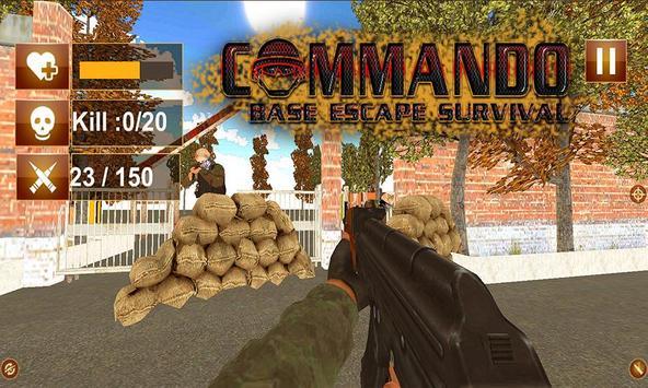 Commando Base Escape Survival apk screenshot