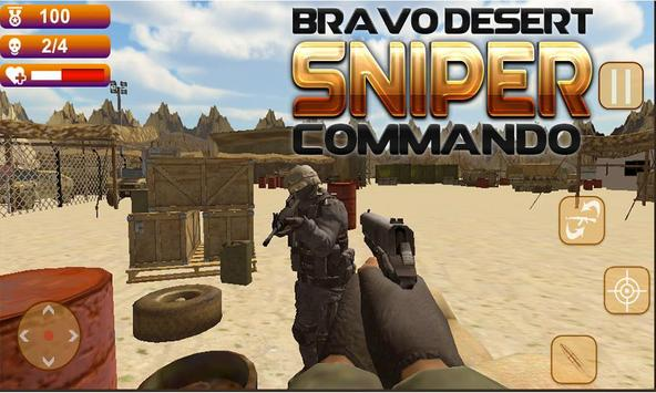 Bravo Desert Sniper Commando apk screenshot