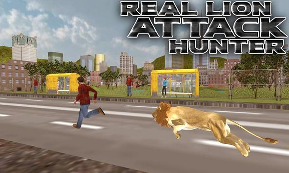Real Lion Attack Hunter poster