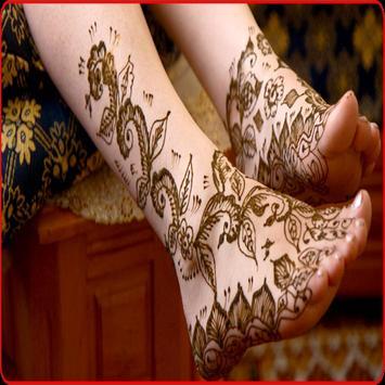 Mehndi Design For Foot poster