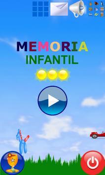 Juego Memoria Infantil Niños poster