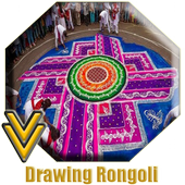 Drawing Rangoli icon