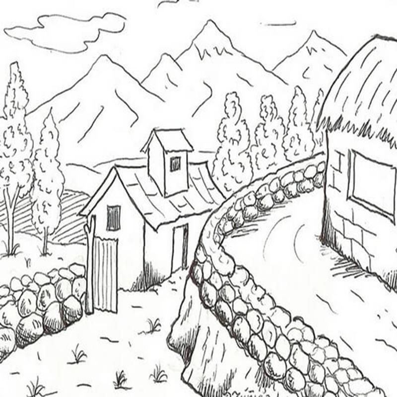 Menggambar Sketsa Pemandangan安卓下载安卓版apk 免费下载