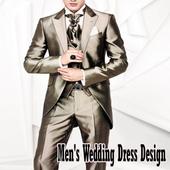 Design wedding dress man icon