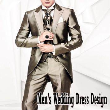 Design wedding dress man poster