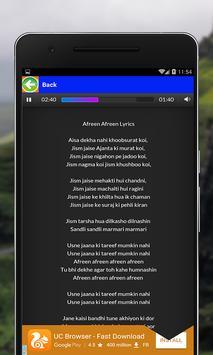 Mere Rashke Qamar Songs Lyrics screenshot 1