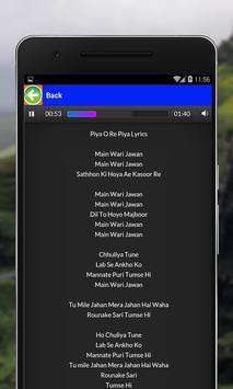 Mere Rashke Qamar Songs Lyrics screenshot 2