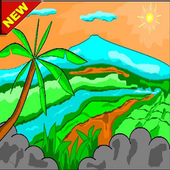 Learn to color the best scenery icon