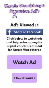Karole Woodthorpe fundraising poster