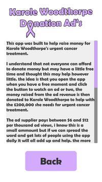 Karole Woodthorpe fundraising apk screenshot