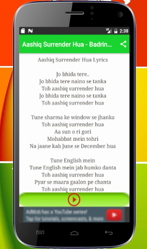 Aashiq Surrender Hua Song Mp3 for Android - APK Download