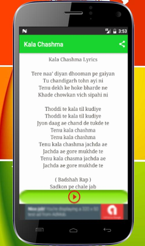 Kala Chashma Songs Mp3 for Android - APK Download